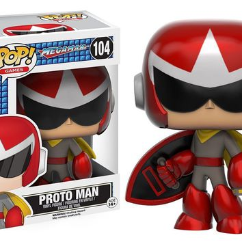 Mega Man Proto Man Funko Pop! Games Vinyl Figure #104