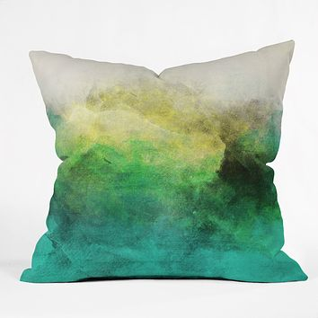 Allyson Johnson Peacock Ombre Throw Pillow