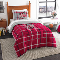 Ohio State Buckeyes NCAA Twin Comforter Set (Soft & Cozy) (64 x 86)