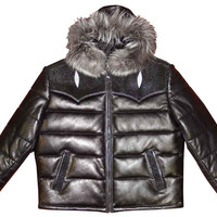 G-Gator - 2910H Quilted Lambskin/Stingray Hooded Jacket