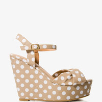 Polka Dot Wedge Sandals | FOREVER 21 - 2024834455