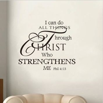 I Can Do All Things Letters Words Removable Wall Sticker Decals Home Vinyl