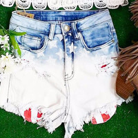 AMERICAN REBEL HIGH WAIST SHORTS