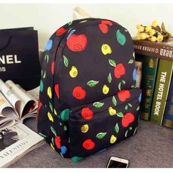 Apple Casual Korean Canvas Backpack = 4887869380