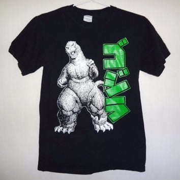 Godzilla T-shirt - Small - Movie Monsters - Japanese - Small -