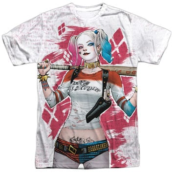 SUICIDE SQUAD HARLEY DRAWING FRONT PRINT ONLY 3D PRINT LICENSED DESIGNER TEE T-SHIRT