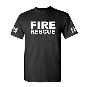 FIRE RESCUE - ems emt emergency service - Mens Cotton T-Shirt