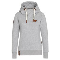 Solid Color Long-Sleeved Hooded Sweater Jacket