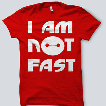 "Big Hero 6 Six - Baymax ""I Am Not Fast"" Tee Shirt"