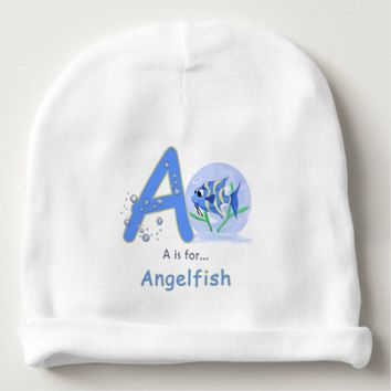 Unique baby angelfish cartoon learn your abc baby beanie