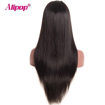 Peruvian Straight Lace Front Wig With Baby Hair