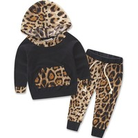 Roaringly Cute Printed Baby Girl Top and Pants 2pc  Summer Tracksuit