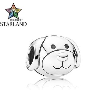 Starland Fashion 2017 New 100% 925 Sterling Silver Animal Lovely Puppy Devoted Dog Beads Fit Charm Bracelet Women Party Jewelry