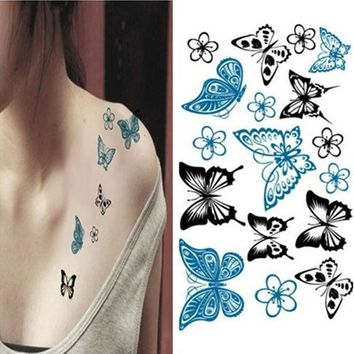 MDIGMS9 Butterfly Waterproof Tattoo Sticker [6050365953]