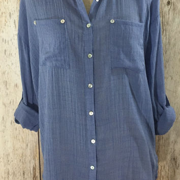Forever Blue Chambray Tunic