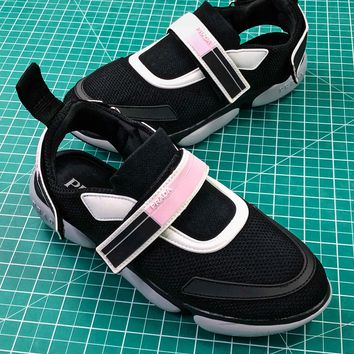 18ss Prada Cloudbust Black Pink Women's Sneakers  - Best Online Sale