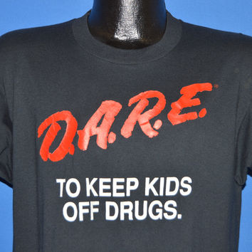 80s DARE To Keep Kids Off Drugs t-shirt Large
