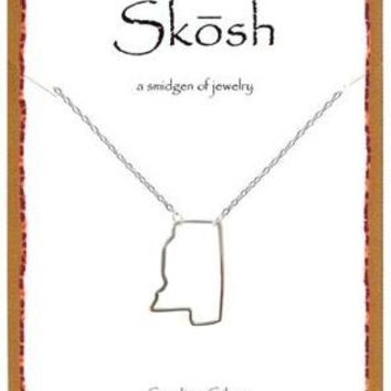 Silver Mississippi Necklace by Skosh