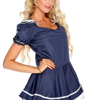 Navy Blue Sexy 2. Piece Sailor Costume