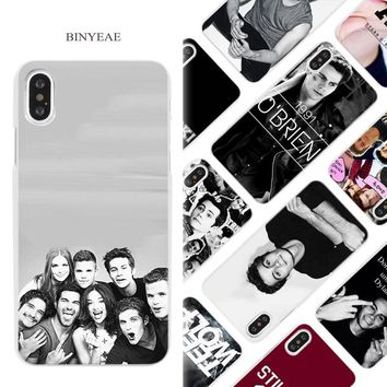 BINYEAE Teen Wolf Dylan Obrien Hard White Phone Case Cover Coque Shell for iPhone X 6 6S 7 8 Plus 5 5S SE 4 4S 5C