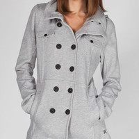 Hurley Winchester Womens Jacket Light Grey  In Sizes