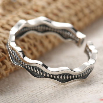 Stylish Gift Shiny New Arrival Jewelry 925 Silver Simple Design Strong Character Vintage Accessory Ring [7652919559]