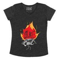 Blaze Your Trail-Unisex Heather Onyx T-Shirt