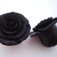 Rosebud Flower Plugs (8 gauge - 2 inch)