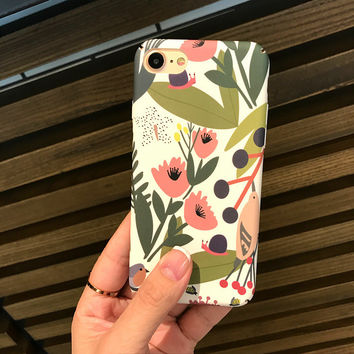 Summer Case for iPhone 7 7Plus & iPhone se 5s 6 6 Plus Cover +Gift Box