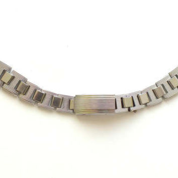 Watch Strap 16mm NOS. Vintage Stainless Steel Bracelet From Soviet Times. Unisex Watches Strap. Russian Watch Strap Metal. Watch Strap Her.