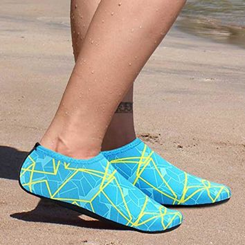 Colorful water shoes easy slip on with rubber soles   Sizes:  5 - 11