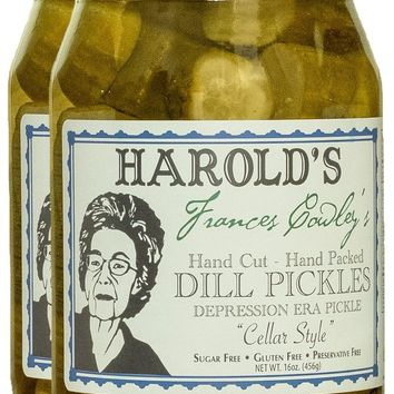 CONSCIOUS CHOICE: Harold's Frances Cowley's Dill Pickles Cellar Style, 16 oz
