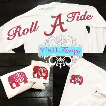 Alabama ROLL TIDE Comfort Colors Long Sleeve T-Shirt - Y'all Fancy
