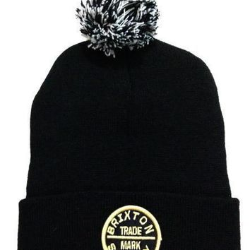 Brixton Women Men Embroidery Beanies Warm Knit Hat Cap-6
