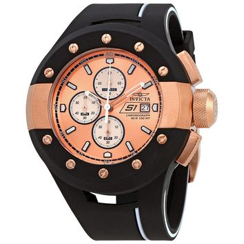 Invicta S1 Rally Chronograph Rose Dial Mens Watch 22439