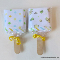 Washcloth Popsicles, Baby Shower Decoration, Infant Washcloth Gift, New Baby Gift, Baby Popsicle