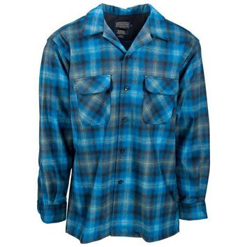 Board Shirt Turquoise/Green Plaid