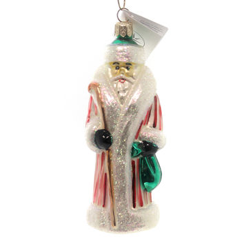 Christopher Radko MINI RUSSIAN Blown Glass Ornament Santa Christmas