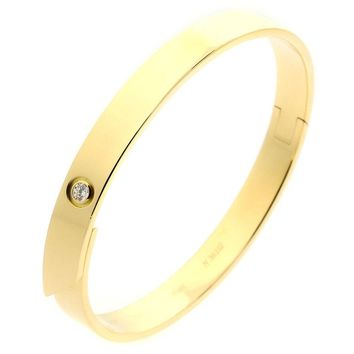 Cartier Anniversary Diamond Gold Bangle Bracelet