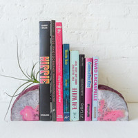 Pastel in Pink  BookGardEndz Crystal Bookends Air Plant Garden Set of Two