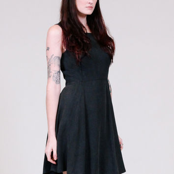 Dramatic black dress with full gathererd skirt - ONLINE ONLY