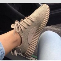 "Yeezy  ""Adidas"" Women Boost Sneakers Running Sports Shoes khaki"