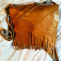 Large Leather Messenger Bag With Ad.. on Luulla