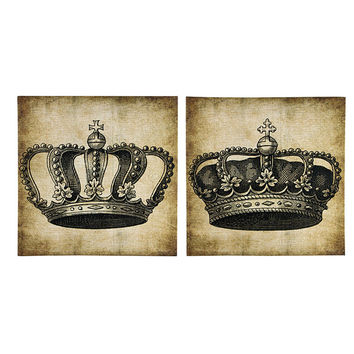 HIS AND HERS ROYALTY CANVAS 2 ASSORTED