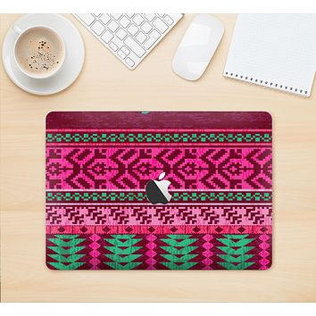 "The Glowing Green & Pink Ethnic Aztec Pattern Skin Kit for the 12"" Apple MacBook"