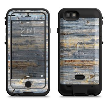 The Vintage Wooden Planks with Yellow Paint  iPhone 6/6s Plus LifeProof Fre POWER Case Skin Kit