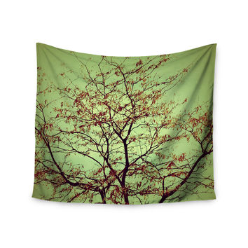 "Sylvia Coomes ""Modern Fall Tree"" Green Brown Wall Tapestry"