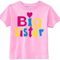 Lil Shirts Little Girls Big Sister Heart Youth & Toddler Graphic Tee