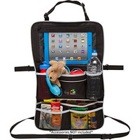 Rugged Universal Backseat Car Organizer | Includes iPad Holder & Large Drink Pockets | For Diapers, Bottles, Toys & More! | Multipurpose Baby Stroller Organizer & Seat Back Protector
