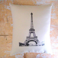 Eiffel Tower Pillow French Decor French by parismarketplace